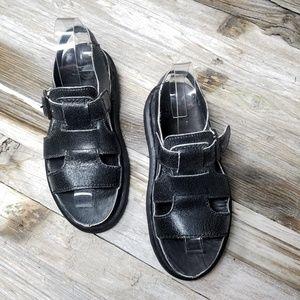 Dr Martens Asha black Leather Sandal strap